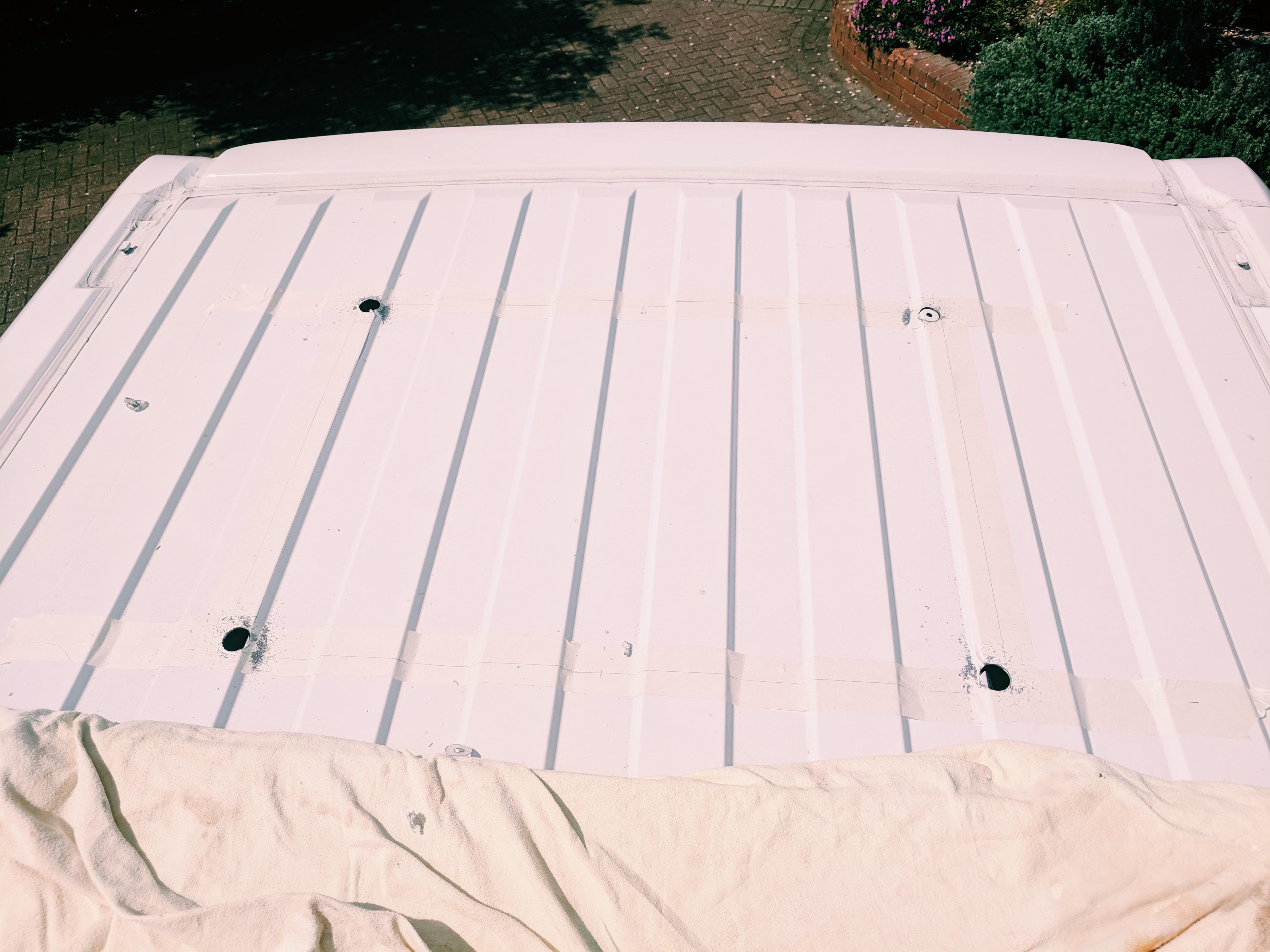 hole saw for heki midi rooflight install