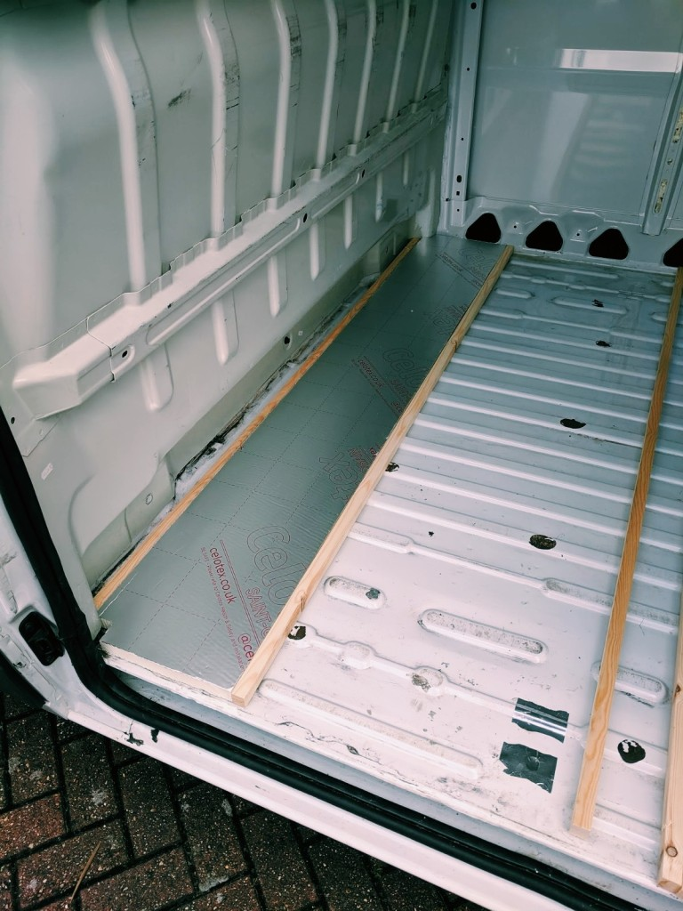 insulating floor campervan celotex