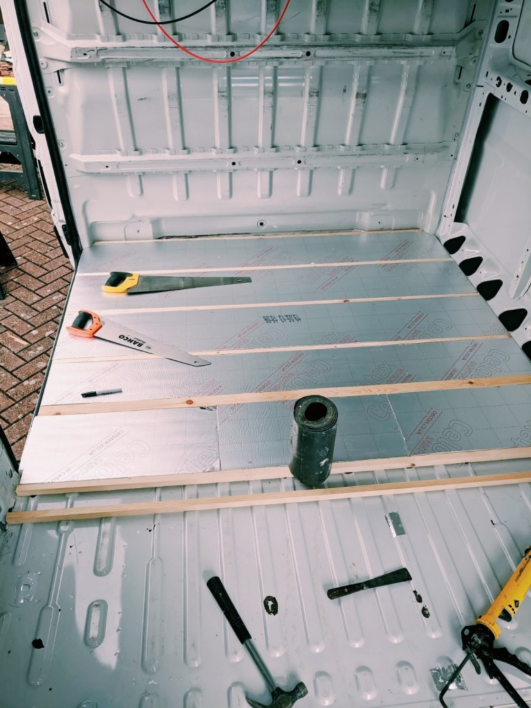 insulating floor campervan conversion